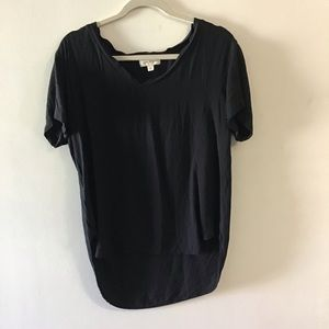 Cloth & Stone black v neck tee. Large